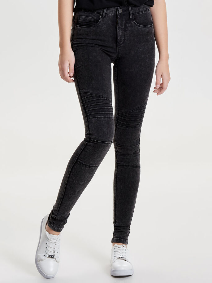 ROBBI REG MOTARD ACIDE JEAN SKINNY, Black, large