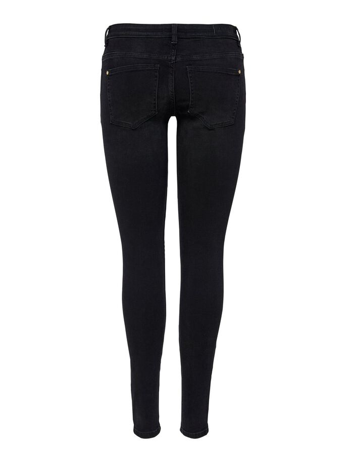 ONLISA4 LIFE REG ZIP SKINNY FIT JEANS, Black Denim, large