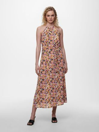 HALTERNECK MAXI DRESS