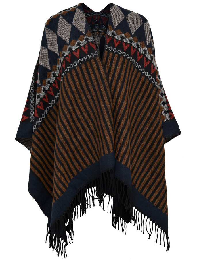 DETAILLIERTER PONCHO, Rubber, large