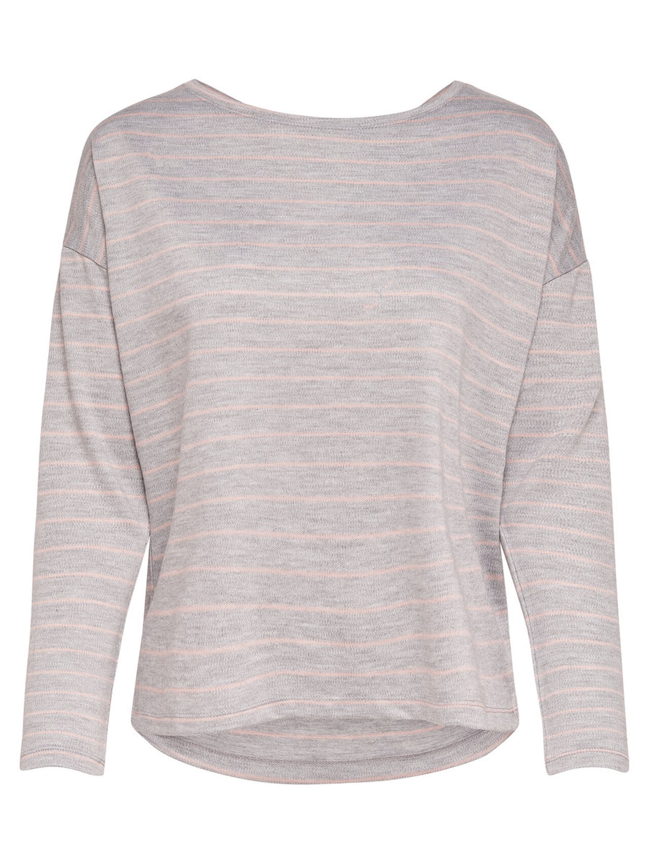 ONLY Striped Long Sleeved Top Women Grey