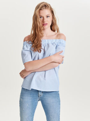 OFF SHOULDER SHORT SLEEVED TOP