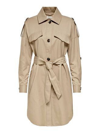 SOLID COLORED TRENCHCOAT