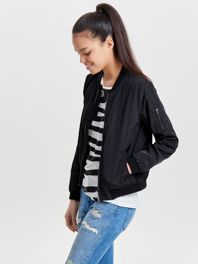 NYLON SHORT JACKET, Black, large