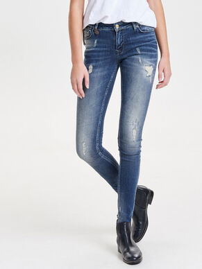 CORAL SUPERLOW ZIP SKINNY FIT JEANS