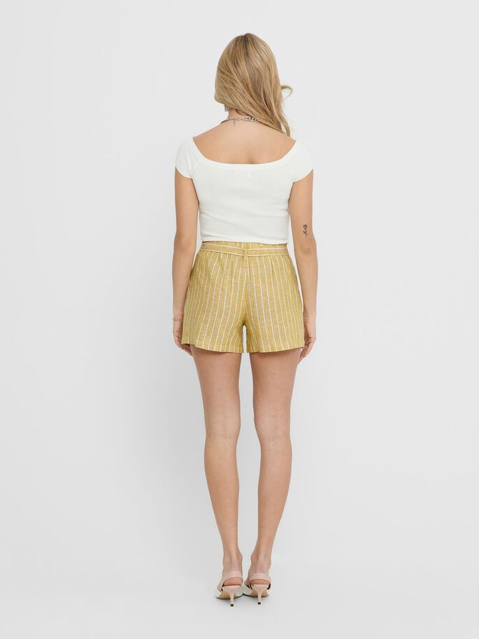 STRIPED SHORTS, Golden Spice, large