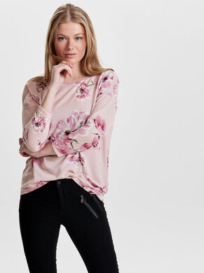 FLOWERED 3/4 SLEEVED TOP