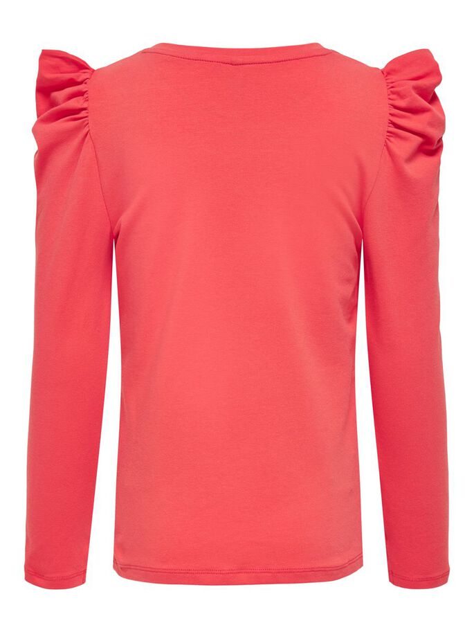 PUFF SLEEVE TOP, Cayenne, large