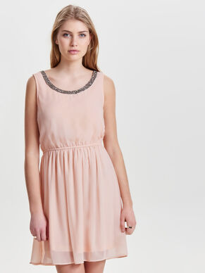 DETAILED SLEEVELESS DRESS