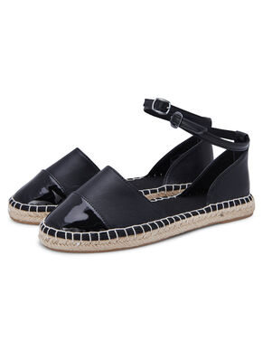 LEATHERLOOK ESPADRILLES