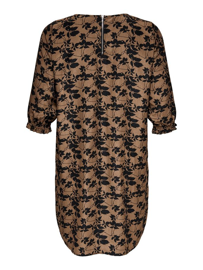 CURVY 3/4 DRESS, Toasted Coconut, large