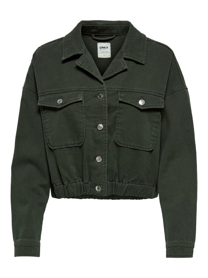 CROPPED JEANSJACKE, Forest Night, large