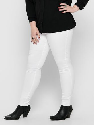 CURVY CARAUGUSTA HW WHITE SKINNY FIT JEANS