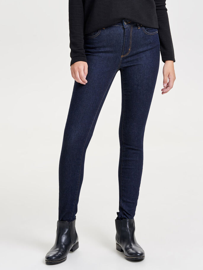 MY REG SKINNY FIT JEANS, Dark Blue Denim, large
