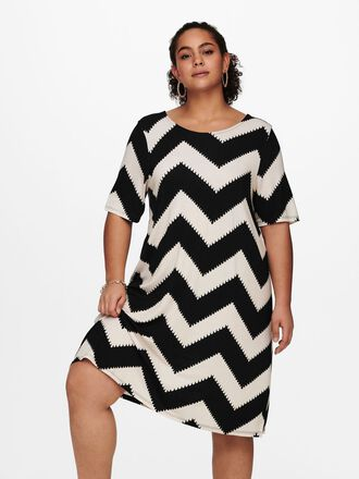 CURVY LOOSE SHORT SLEEVED DRESS
