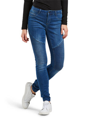 CORAL REGULAR BIKER SKINNY FIT JEANS