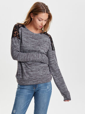 MIXED LONG SLEEVED TOP