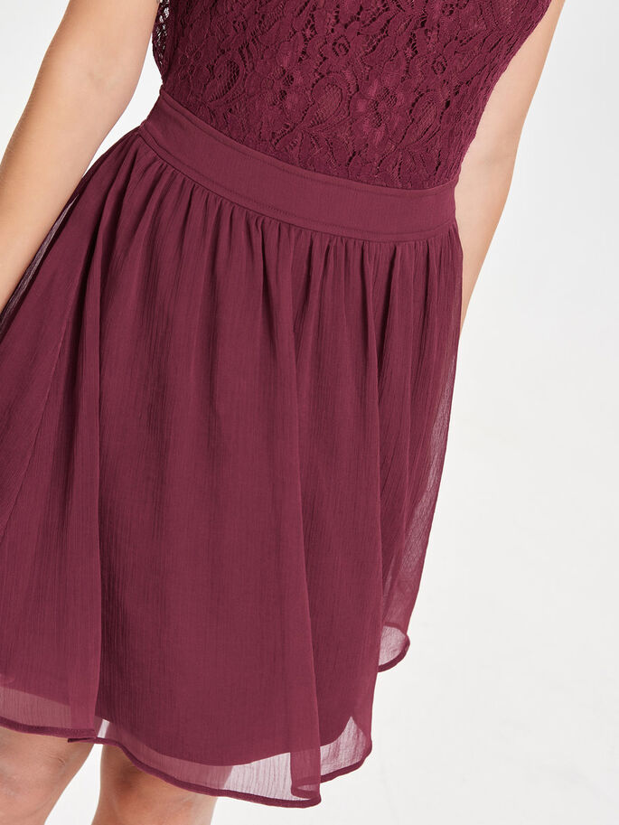 SLEEVELESS LACE DRESS, Rhododendron, large