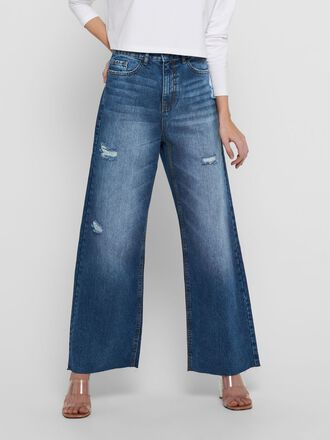 JDYSELMA LIFE WIDE DESTROY HIGH WAISTED JEANS