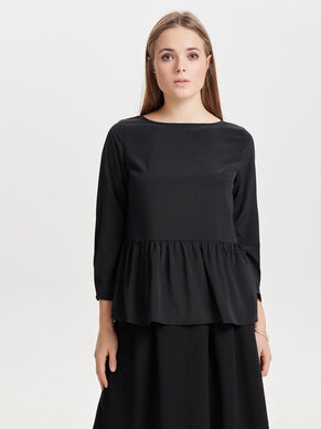 PLEATED LONG SLEEVED TOP