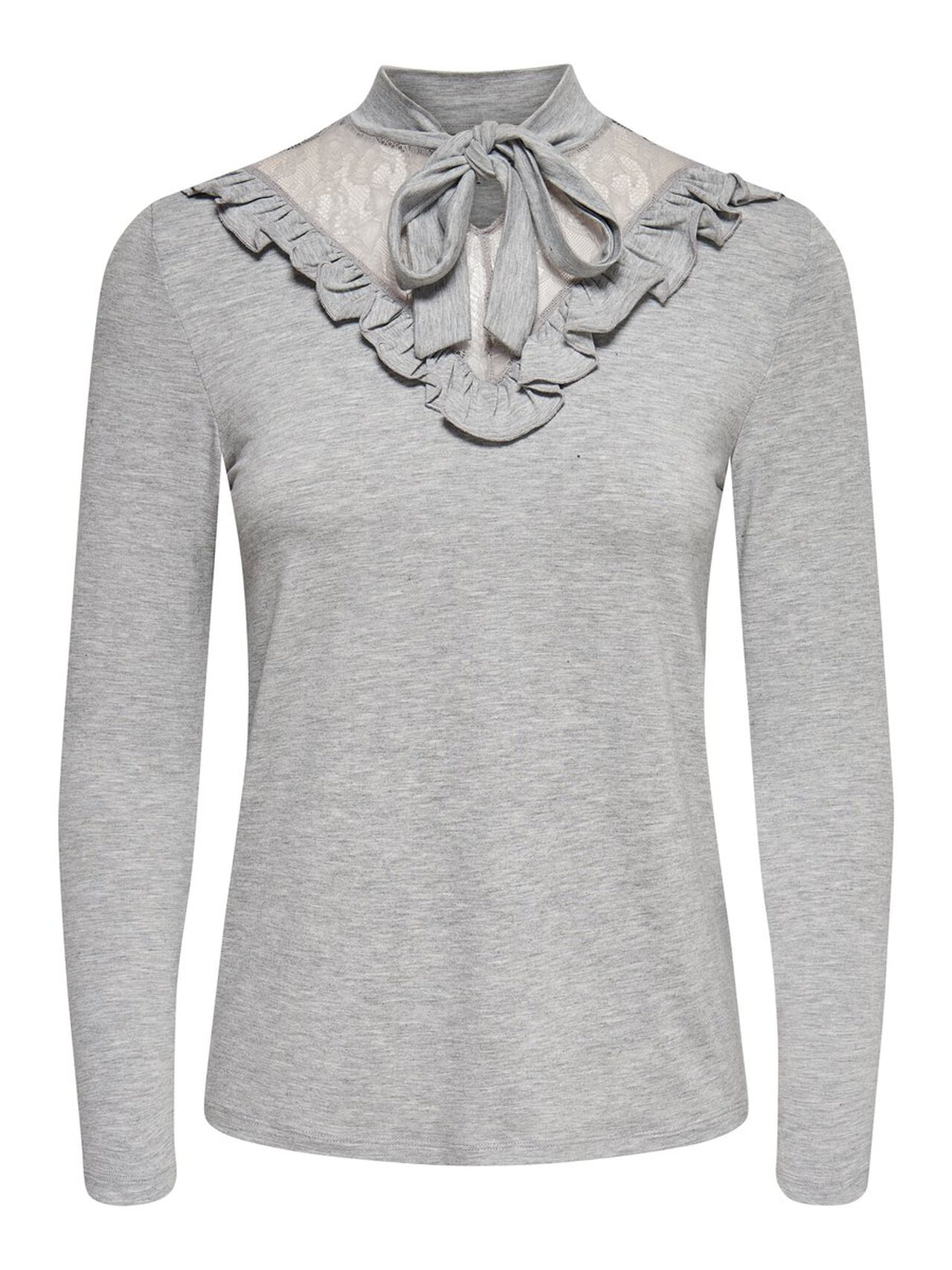 ONLY Detailed Long Sleeved Top Women Grey