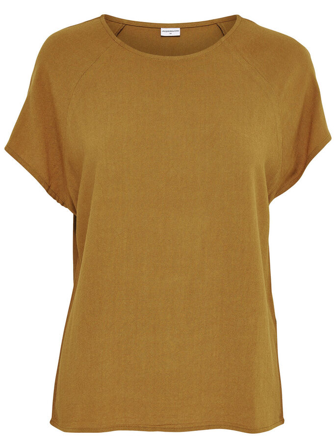 LOOSE SHORT SLEEVED TOP, Breen, large