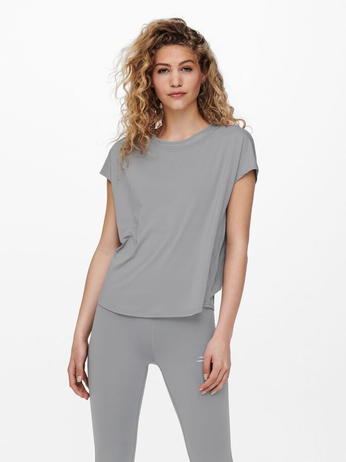 COUPE AMPLE T-SHIRT SPORT, Sleet, large