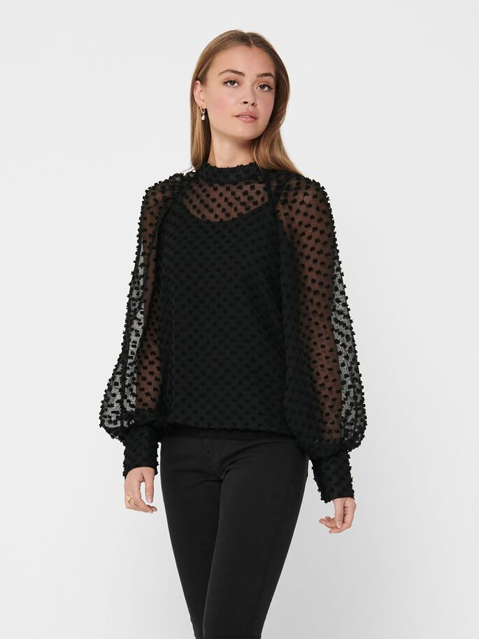 TEXTURE TOP, Black, large