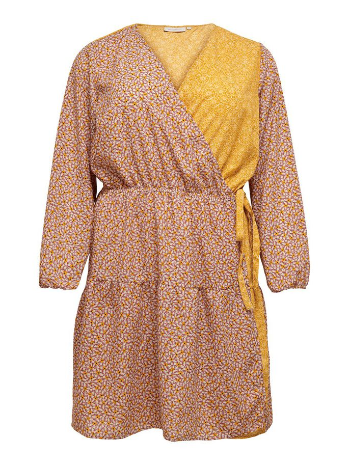 CURVY WRAP DRESS, Cloud Dancer, large