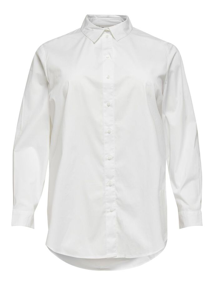CURVY LOOSE FITTED SHIRT, Bright White, large