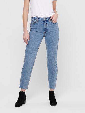 ONLEMILY HW CROPPED ANKLE STRAIGHT FIT JEANS