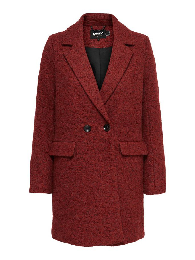 WOOL COAT, Fired Brick, large