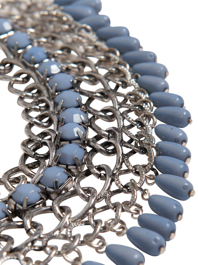 CHUNKY NECKLACE, Silver, large