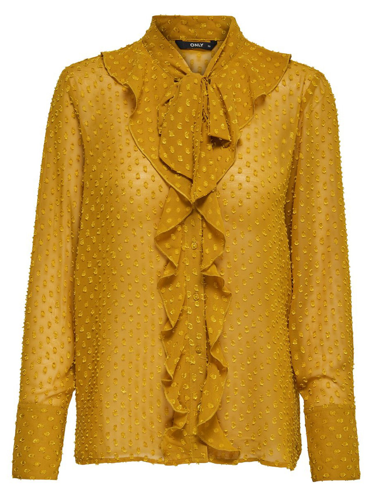 ONLY Frill Long Sleeved Top Women Yellow