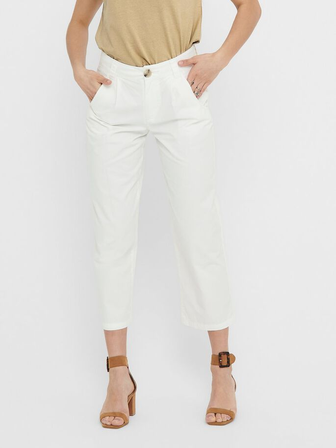 DE CORTE CROPPED PANTALONES, Cloud Dancer, large