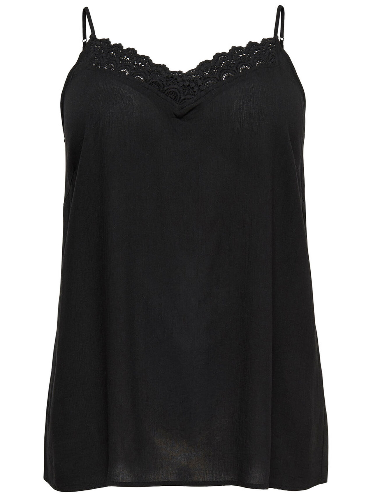 ONLY Curvy Lace Sleeveless Top Women Black