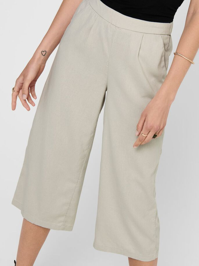 CULOTTE TROUSERS, Pumice Stone, large