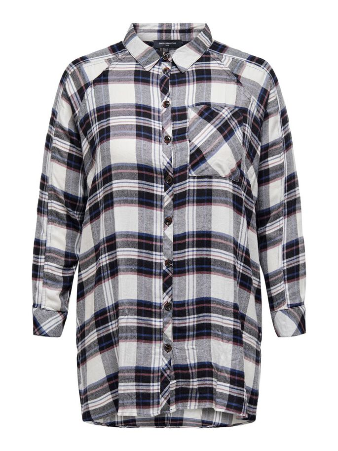 CURVY LOOSE FITTED SHIRT, Tofu, large