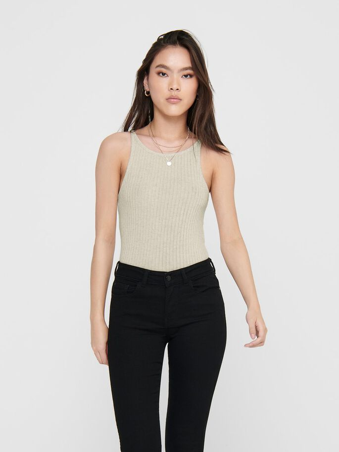 TIGHT FITTED TOP, Humus, large