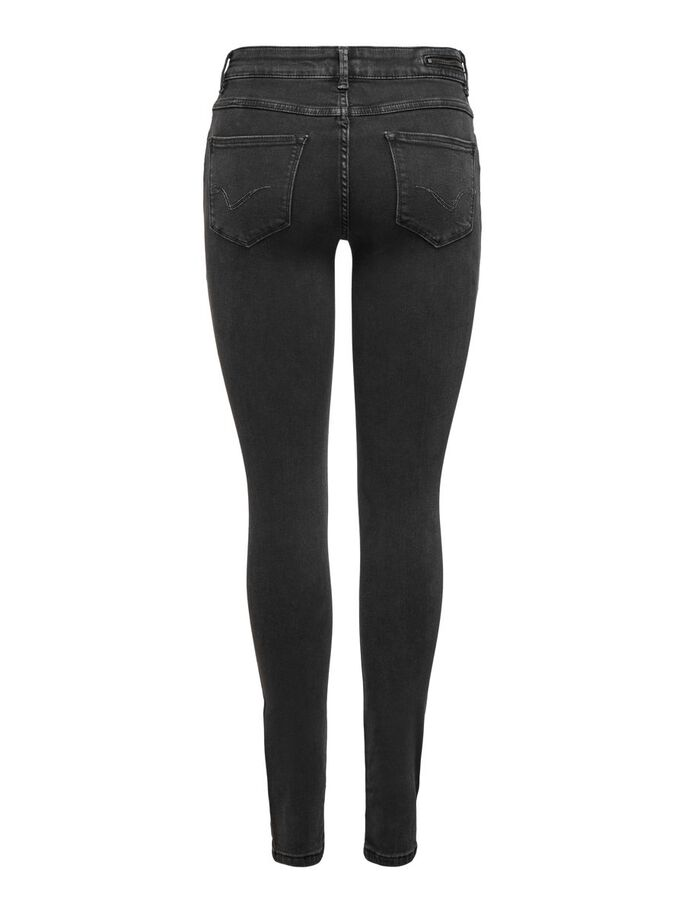 ONLCARMEN LIFE REG ZIP SKINNY FIT JEANS, Black, large