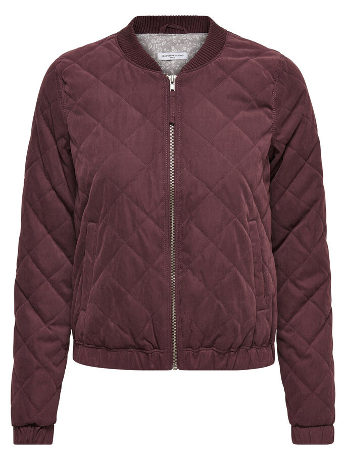 BOMBER QUILTET JAKKE, Fudge, large
