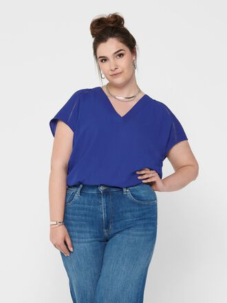 CURVY V-NECK TOP