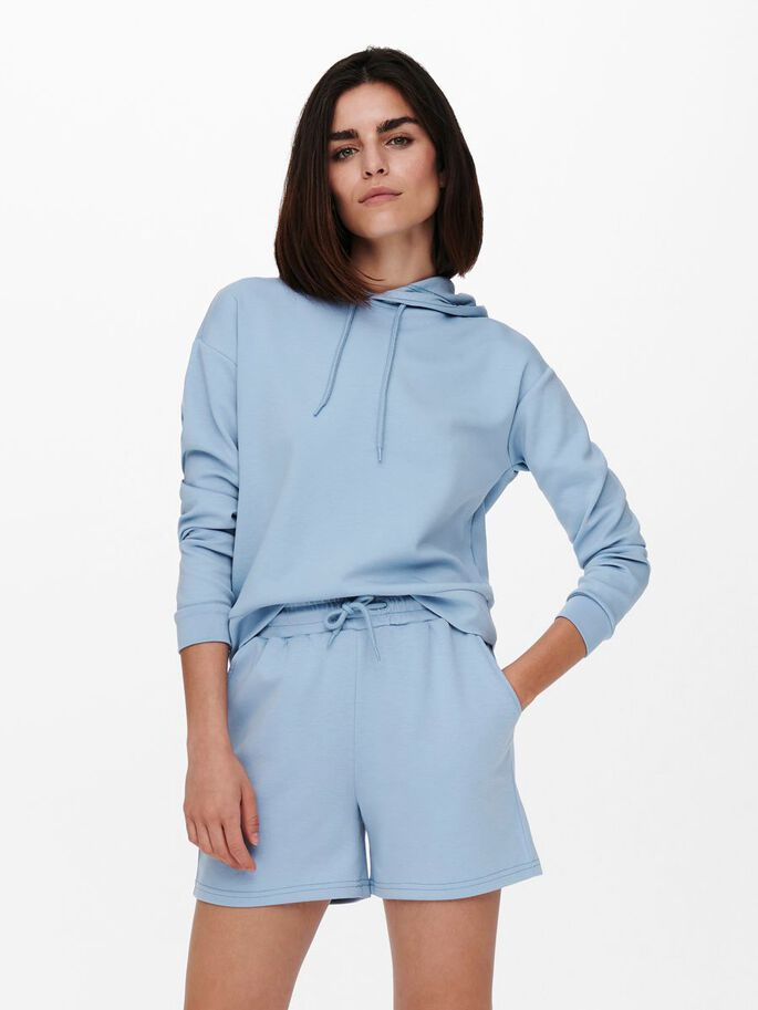 SOLID COLORED HOODIE, Forever Blue, large