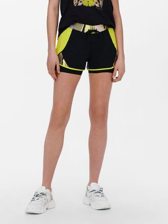 CONTRAST COLORED TRAINING SHORTS