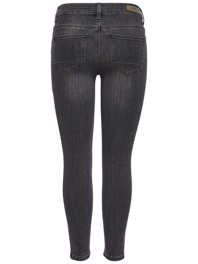 KENDELL CHEVILLE FERMETURE GRIS JEAN SKINNY, Grey Denim, large