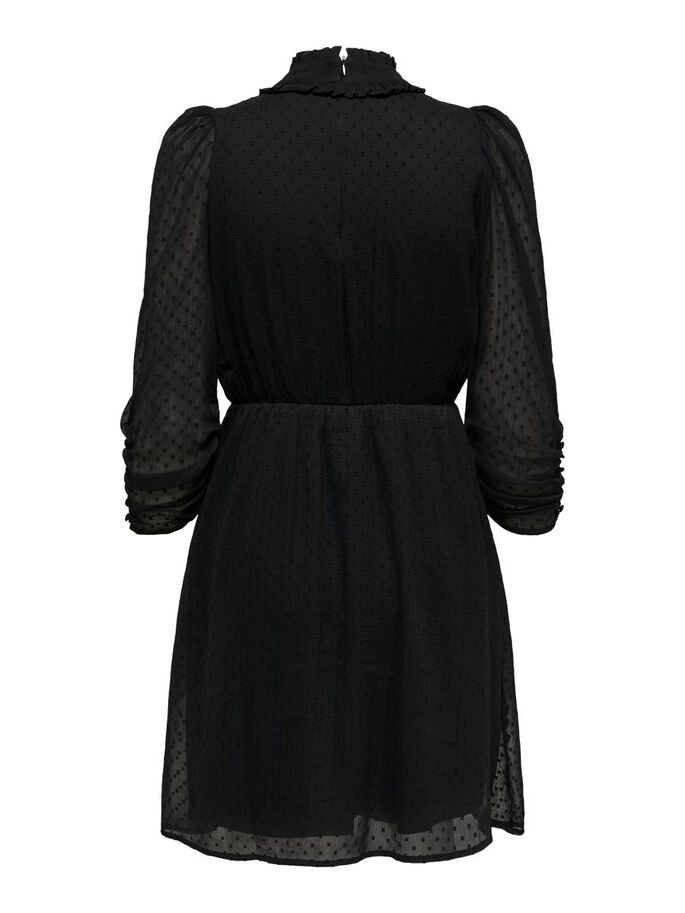 COUPE AMPLE ROBE COURTE, Black, large