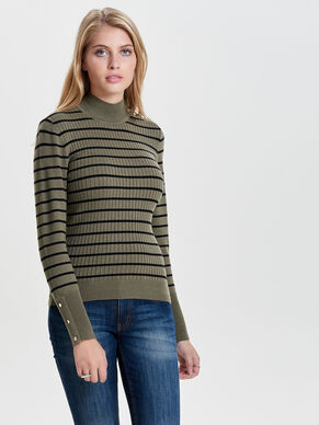 À RAYURES PULL EN MAILLE