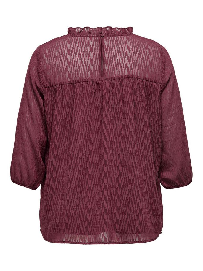VOLUPTUEUSE MANCHES 3/4 TOP, Oxblood Red, large
