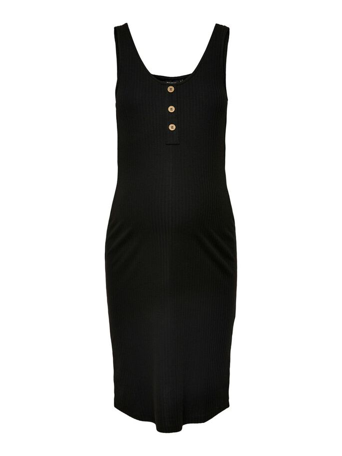 MAMA TIGHT FITTED DRESS, Black, large