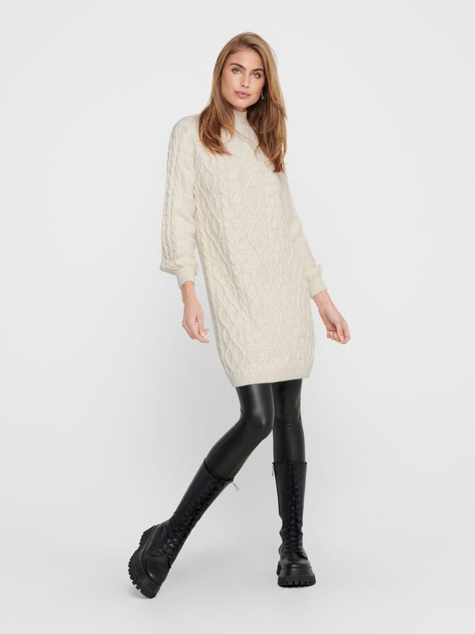 STRUCTURED KNITTED DRESS, Whitecap Gray, large